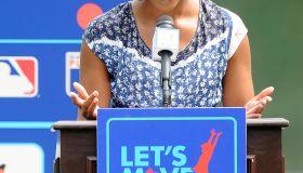 Michelle Obama Promotes Let's Move Campaign
