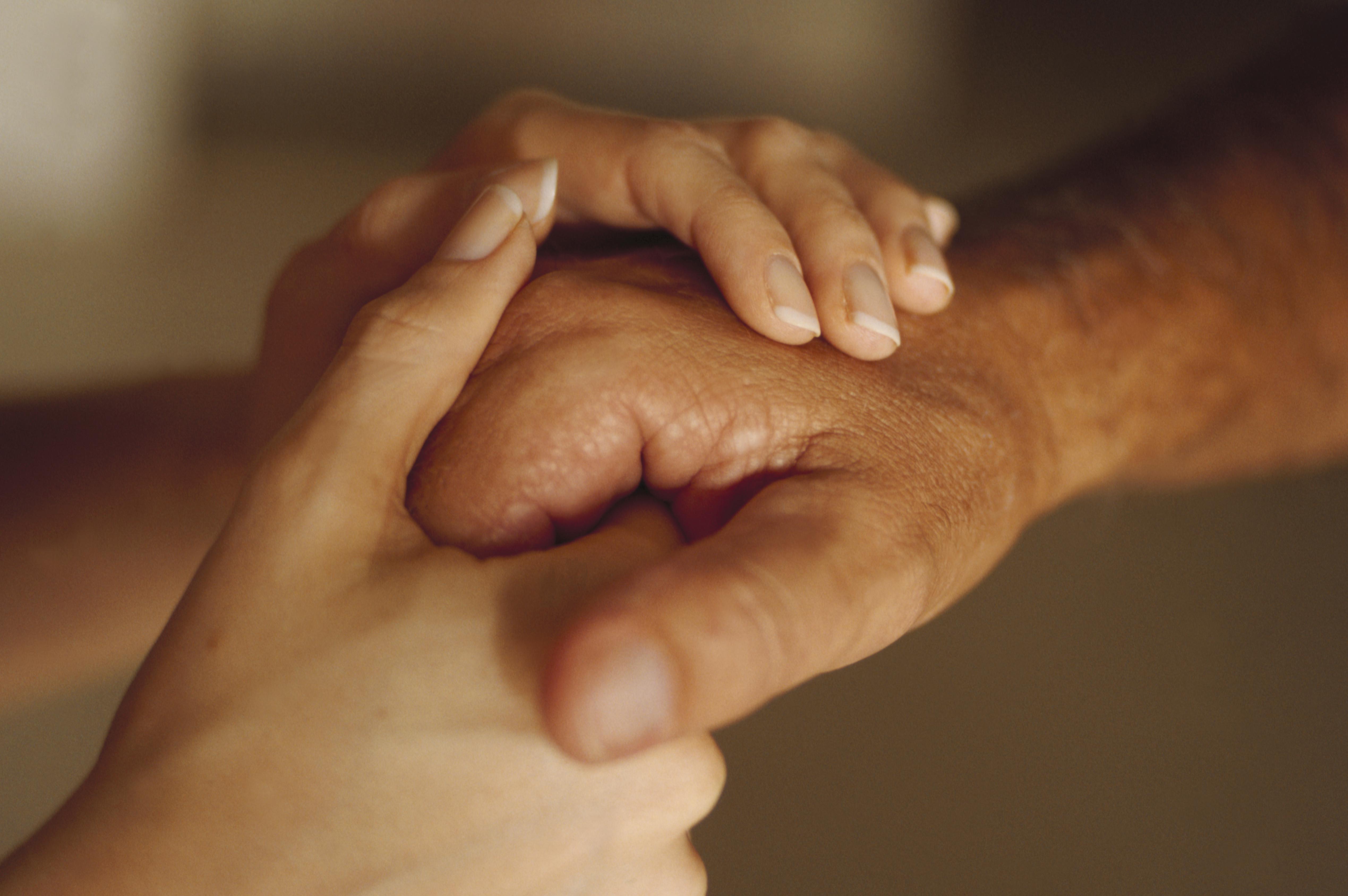 Woman Comforting Man