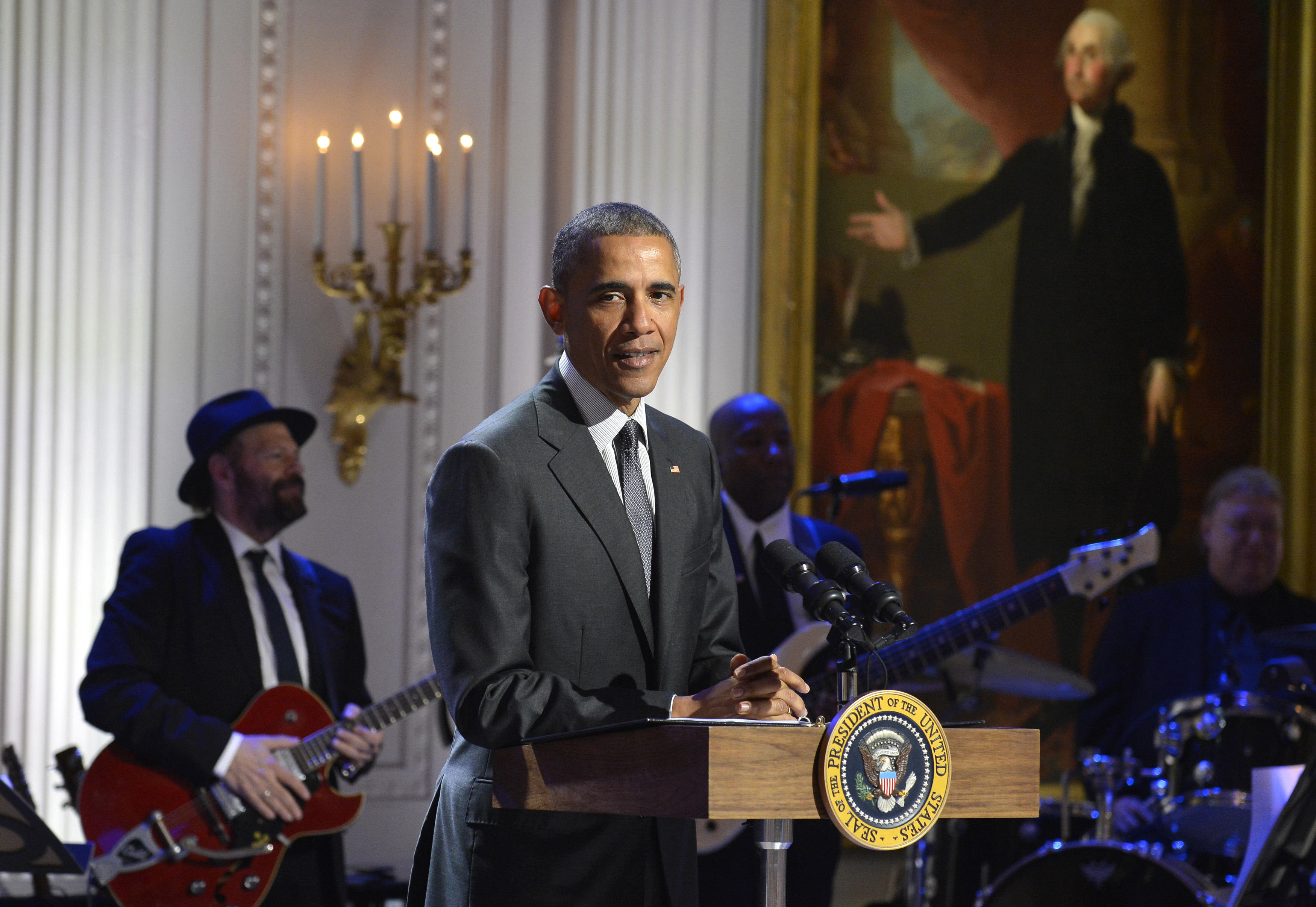 President Obama Attends Evening Of Gospel Music At The White House