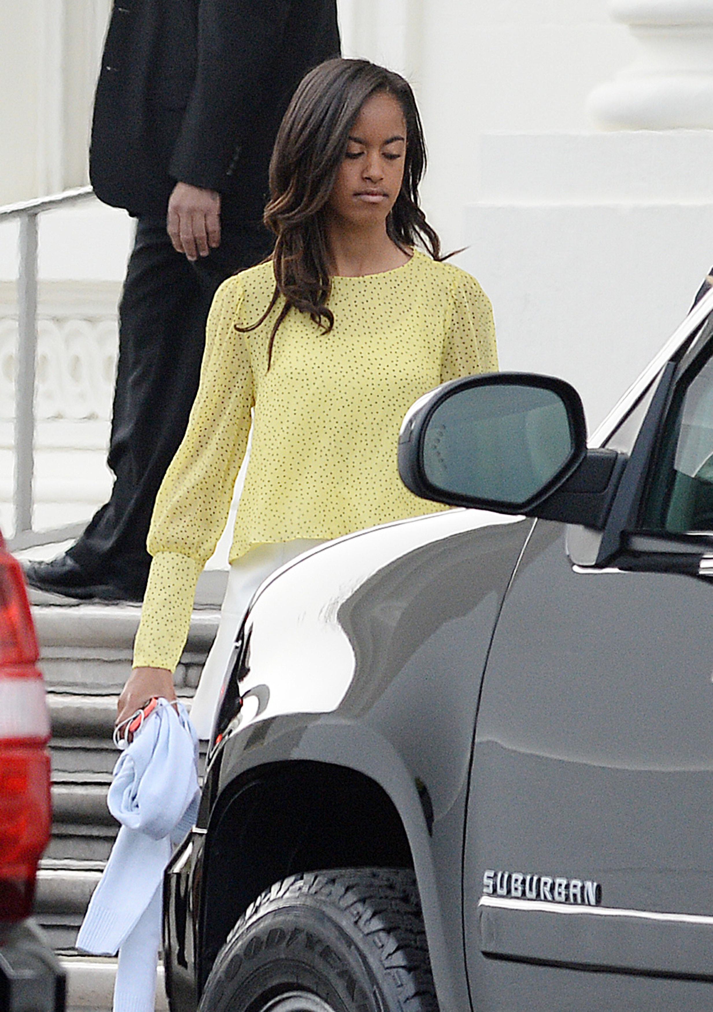 President Obama And Family Go To Sunday Church