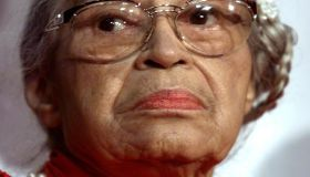 Civil rights heroine Rosa Parks attends the openin