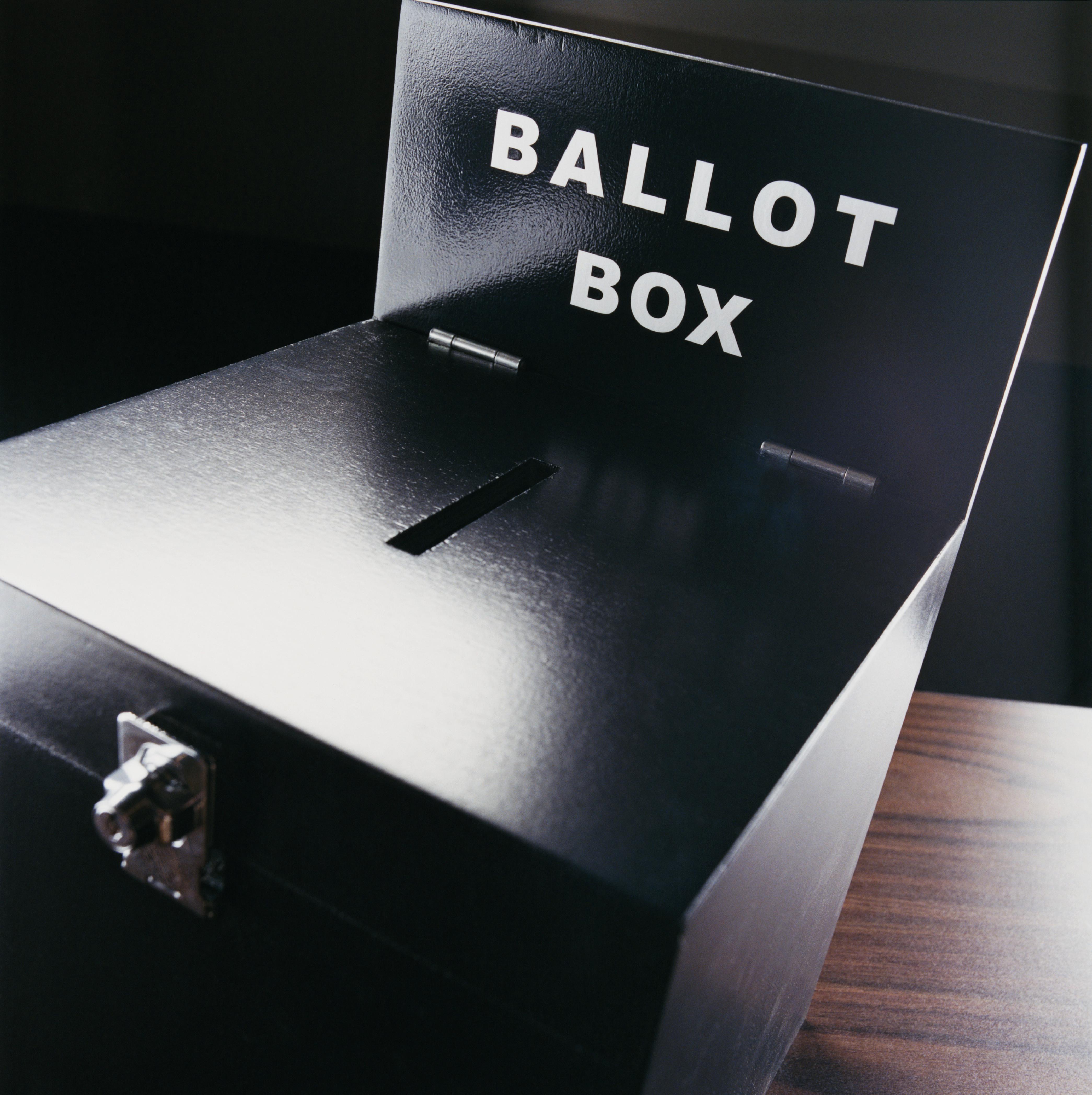 Studio Shot of a Ballot Box