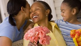 Mother, Daughter, and Grandmother Celebrating Mother's Day