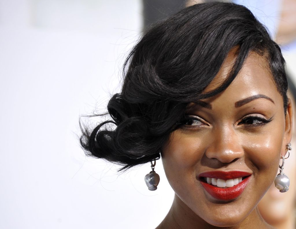 Meagan Good poses for a picture at Scree