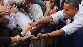 Obama Discusses Economy At Campaign Event In Virginia