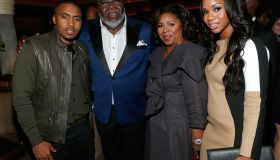 Rapper Nas, Executive producer Bishop TD Jakes, Serita Jakes and Sarah Jakes