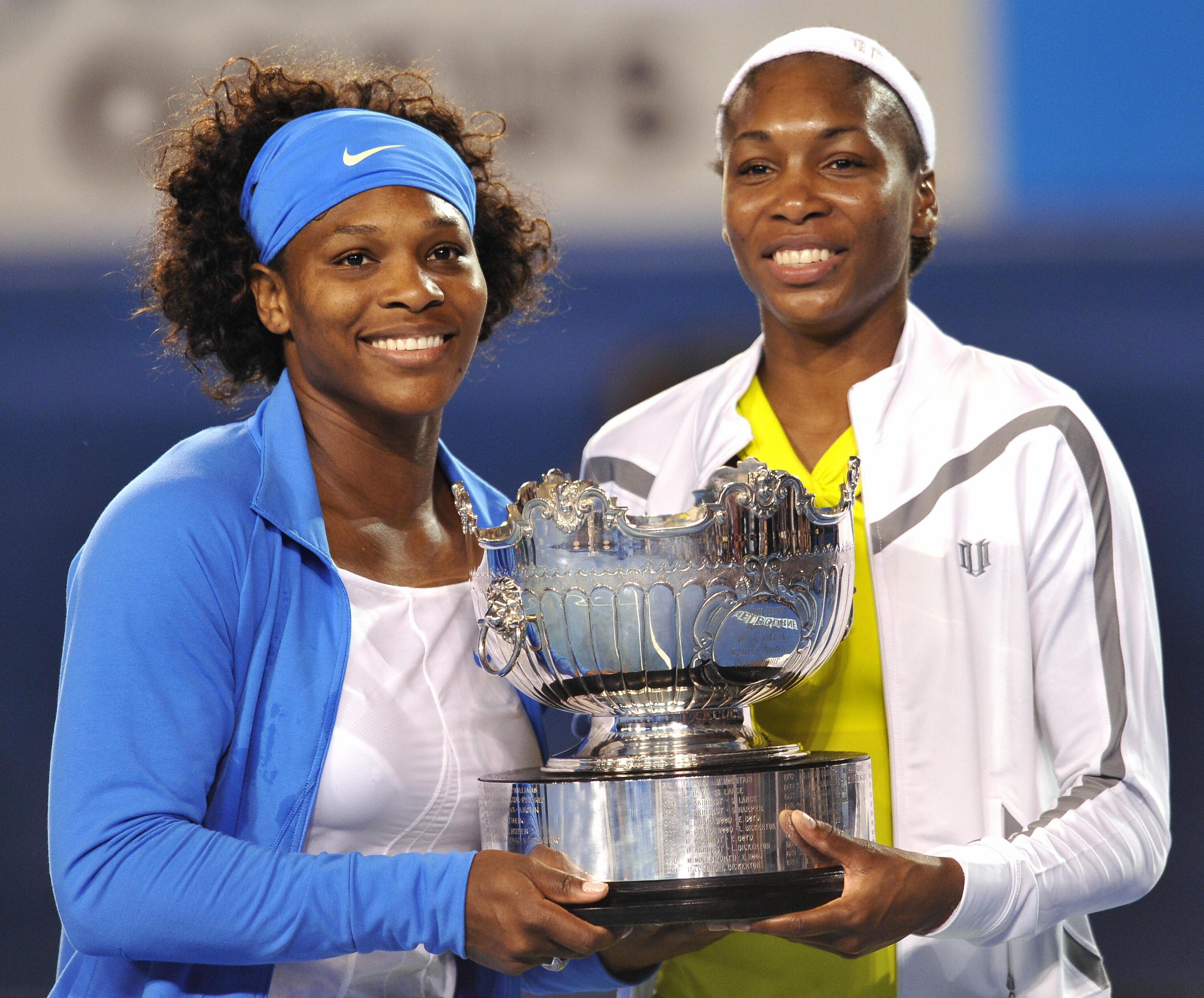Serena (L) and Venus Williams of the US