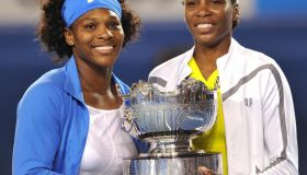 Serena (L) and Venus Williams of the US