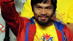 Manny Pacquiao of the Philippines attend