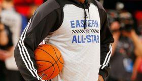 Lebron James at NBA All-Star Practice 2015