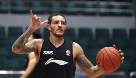 Delonte West Training For CBA 13/14 Game