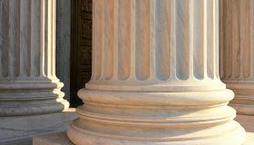 Detail of columns at the US Supreme Court, Washington DC