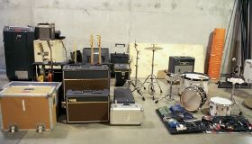 Musical instruments backstage