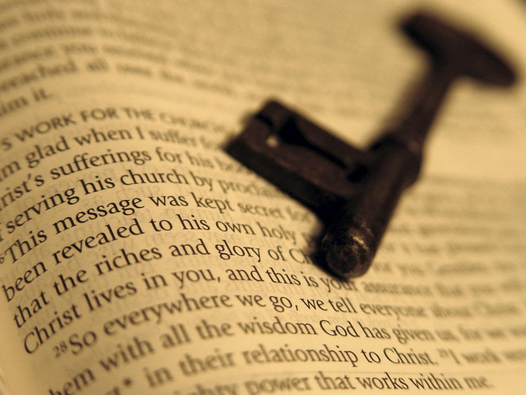 Key on a Bible