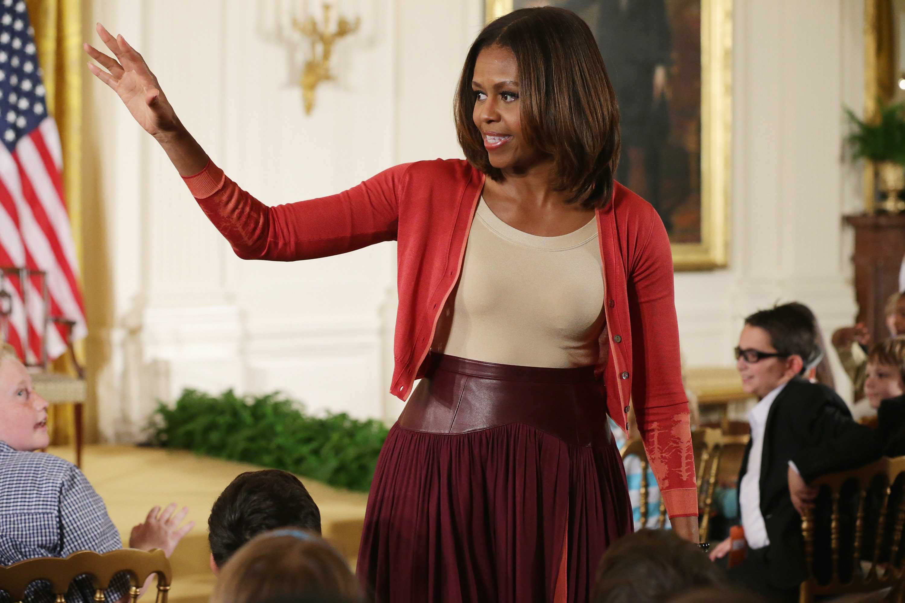 First Lady Michelle Obama Hosts Take Your Children To Work Day At White House