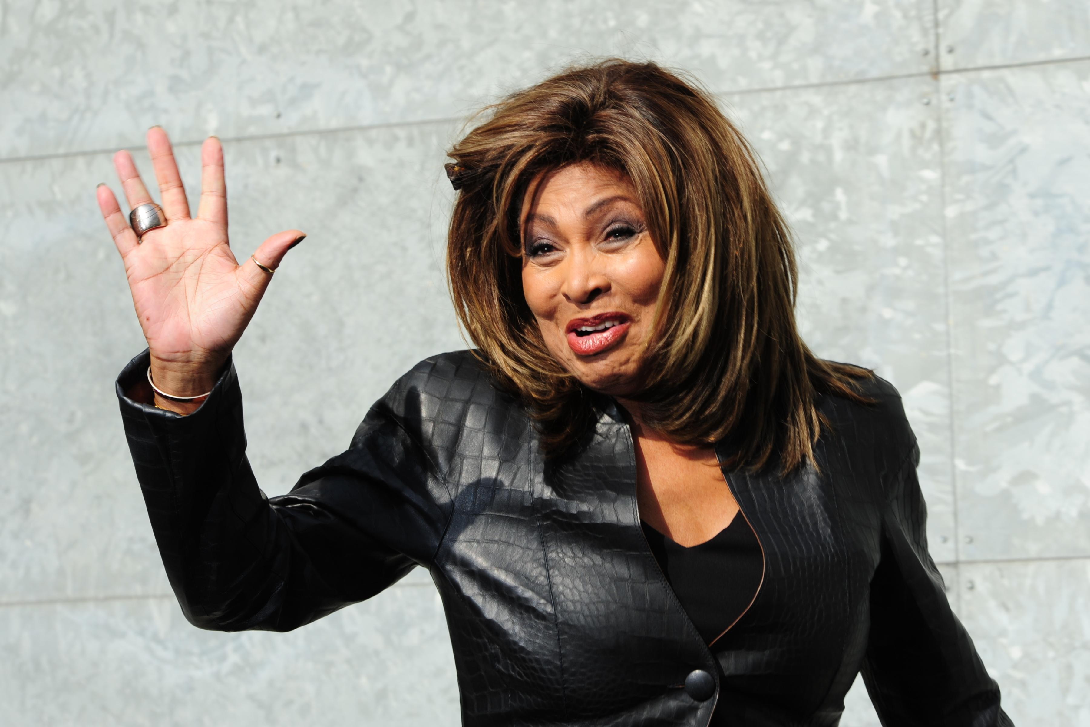 US singer Tina Turner poses prior the Em