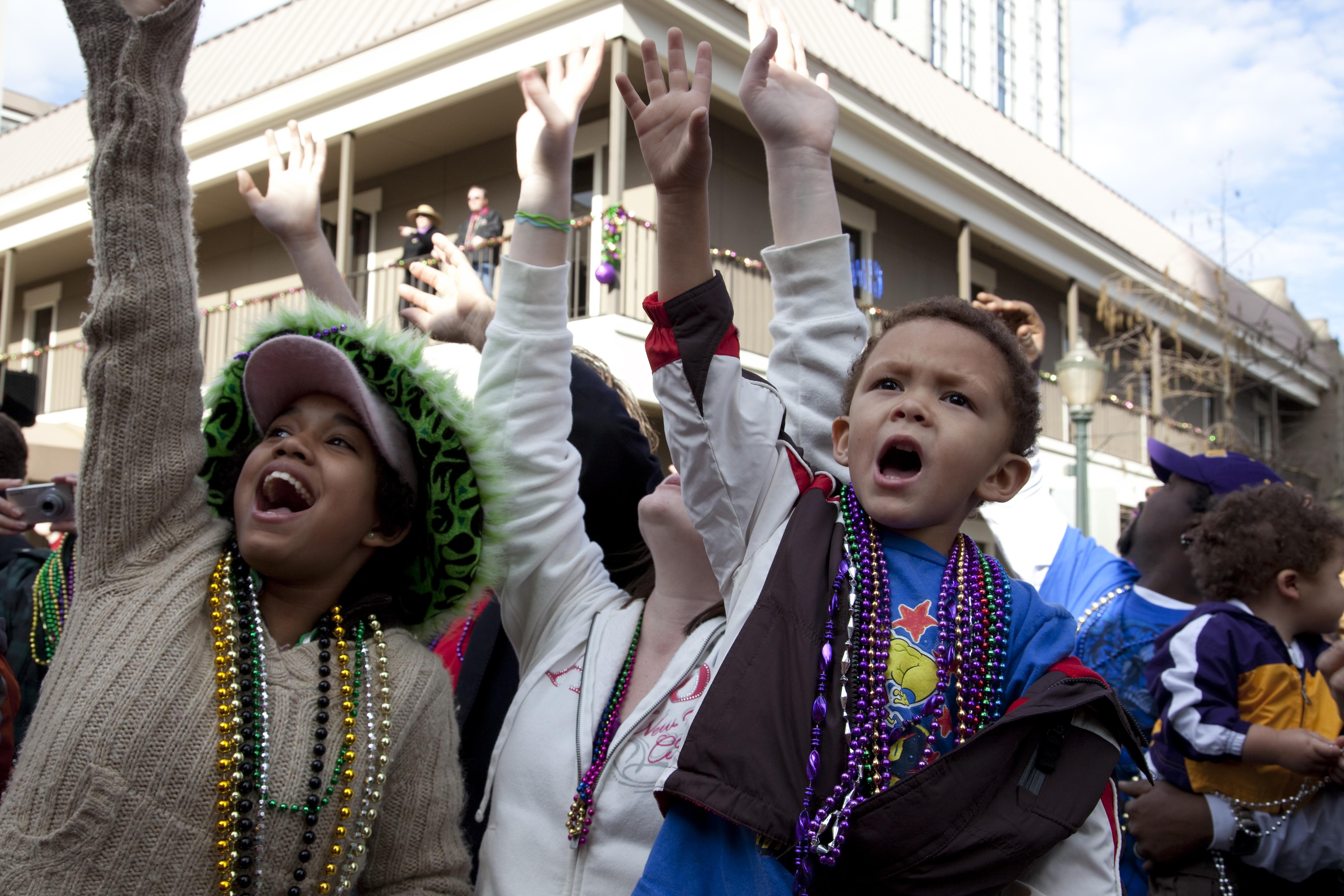 Spectators, Mardi Gras, Mobile, Alabama