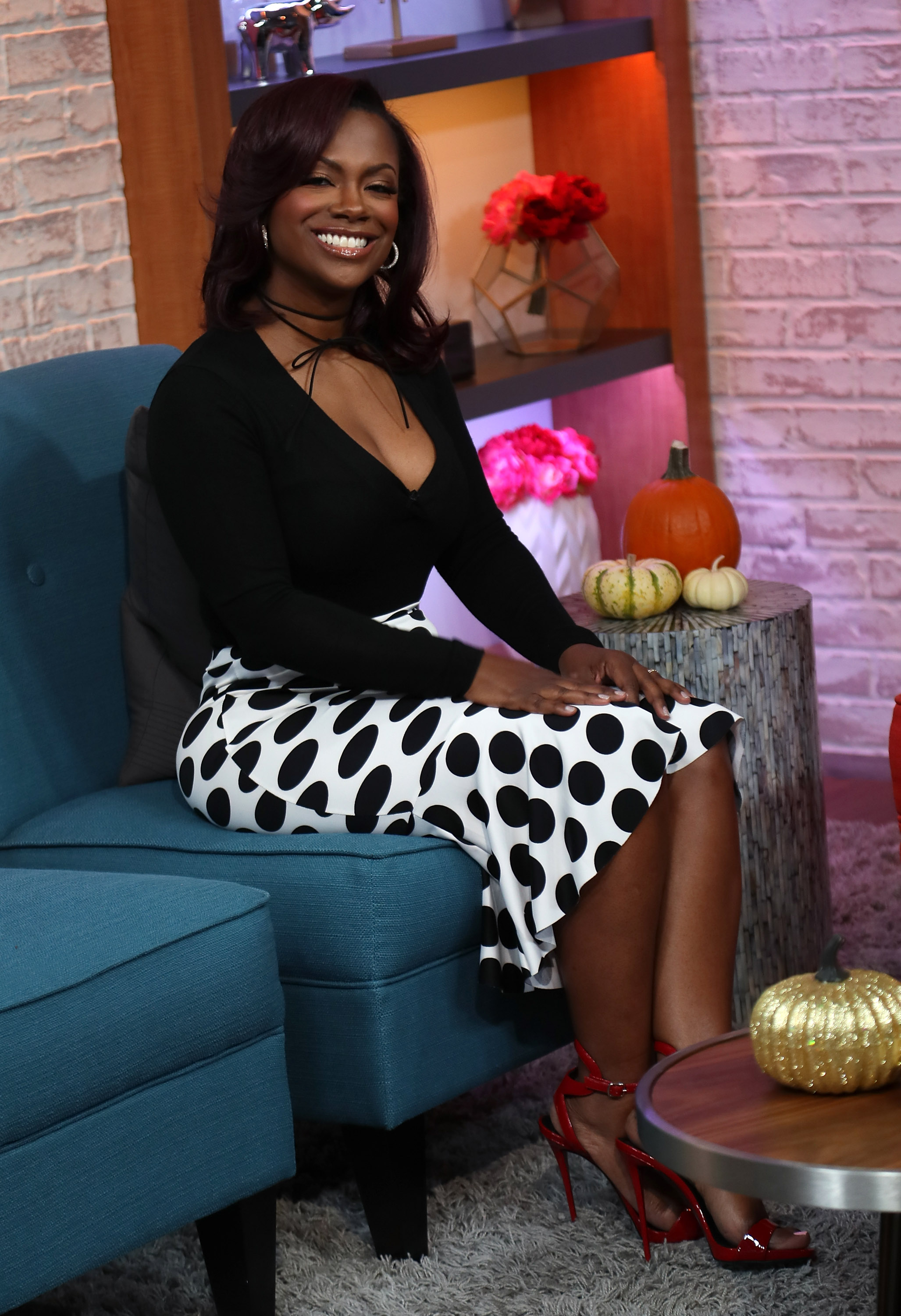 Kandi Burruss, Laurie Hernandez And Val Chmerkovskiy Visit Hollywood Today Live