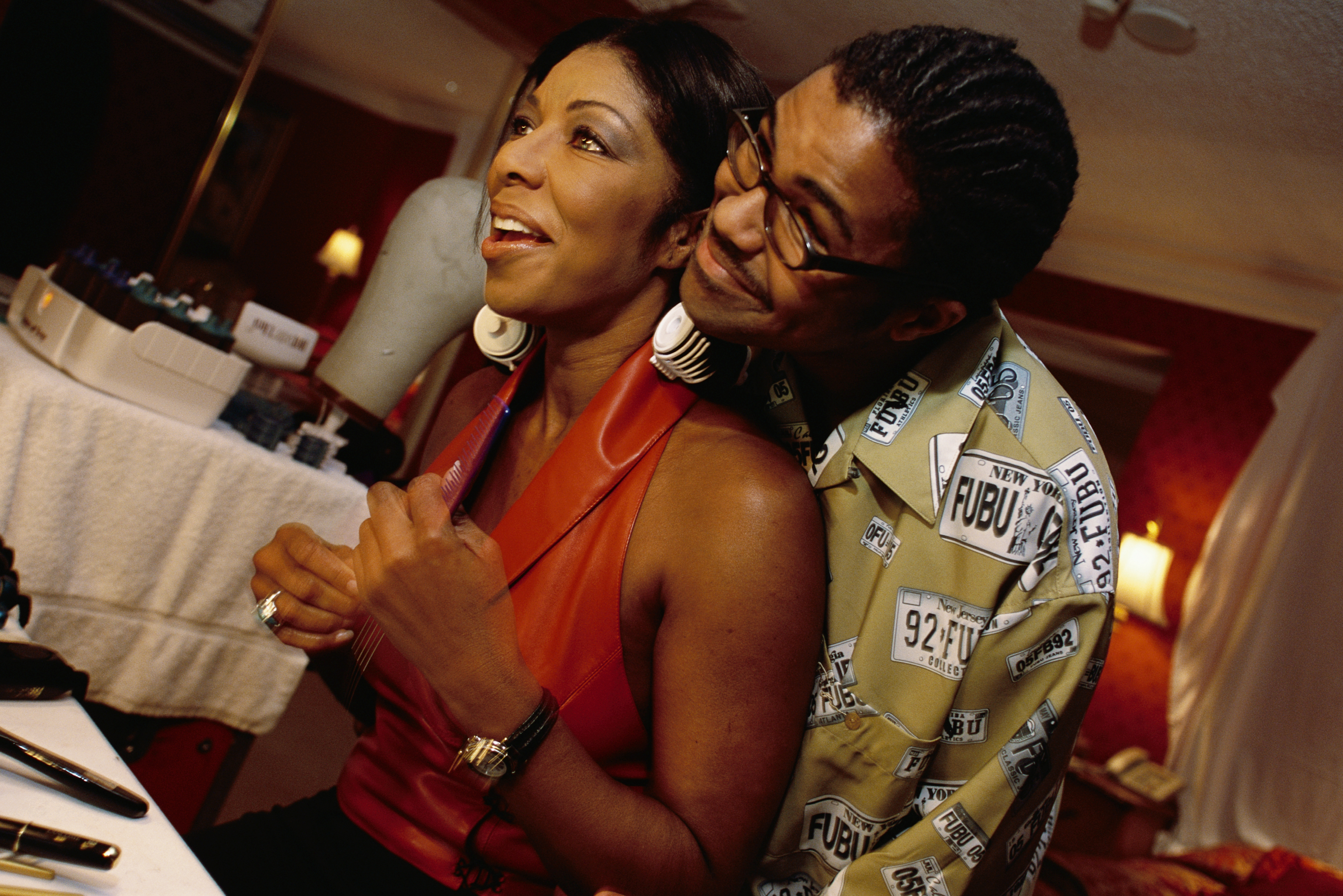 Singer Natalie Cole with Son