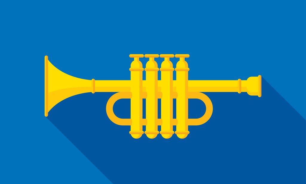 Trumpet Icon Flat