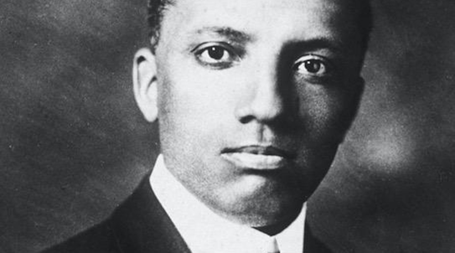 Portrait of American historian and educator Carter Godwin Woodson (1875 - 1950) Woodson is credited with creating Negro History Week, which would years later become Black History Month. (Credit: Hulton Archive/Getty Images )