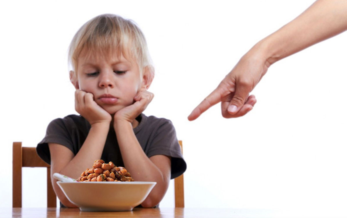 Image result for KID DONT LIKE TO EAT BEANS