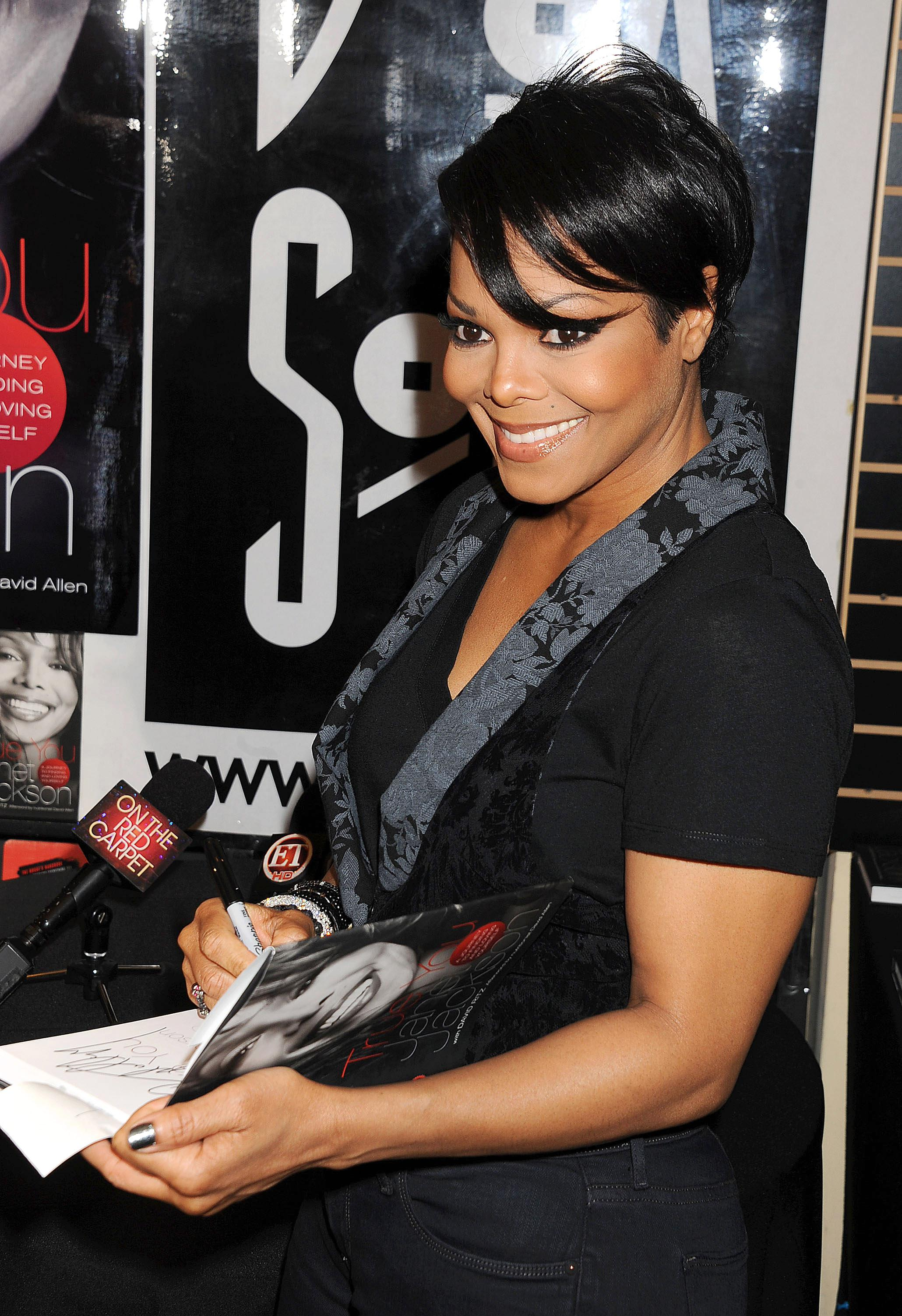 Janet Jackson Signs Copies Of Her New Book 'TRUE YOU: A Guide To Finding And Loving Yourself'