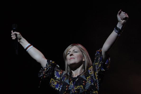 Australian singer Zschech Darlene performs at the arena in Geneva, Switzerland on September 29th, 2007