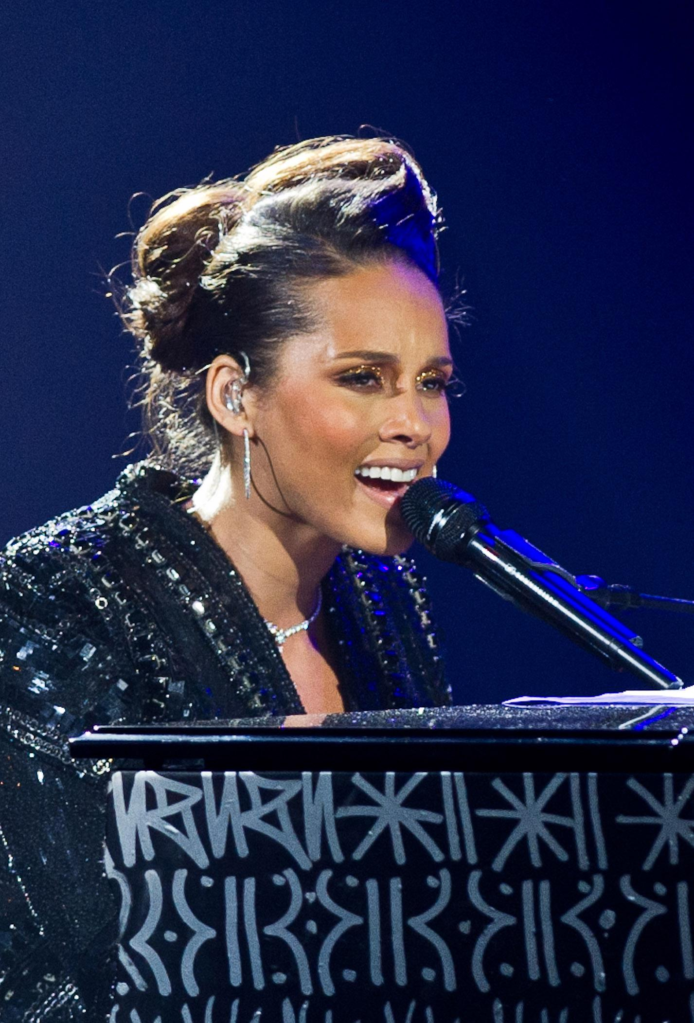 Alicia Keys In Concert At Palais Des Congres