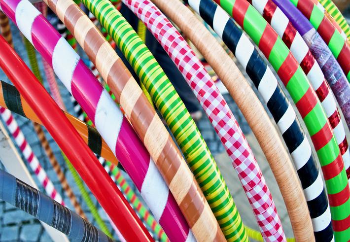 Full Frame Shot Of Multi Colored Plastic Hoops