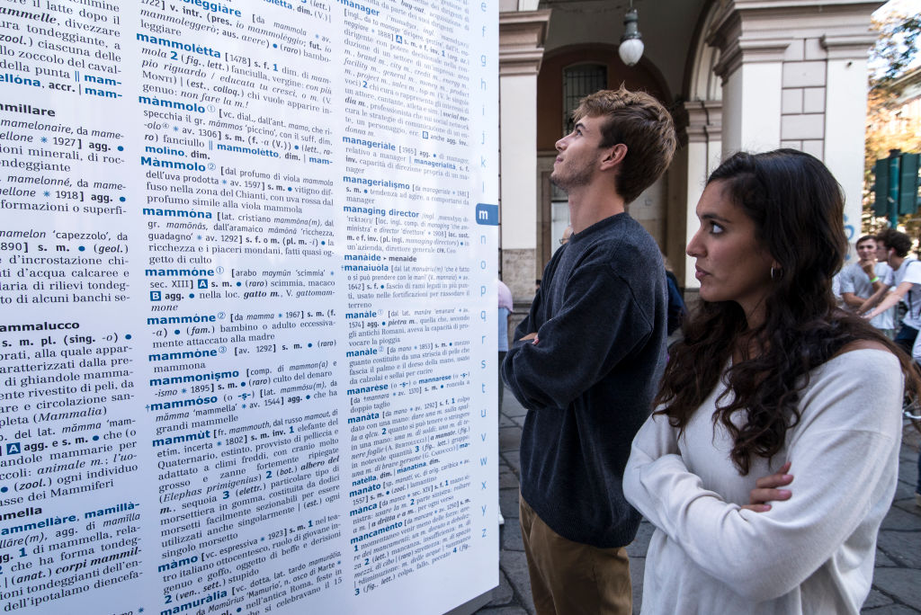 """Giant Dictionary On The Street To """"Save The Words"""""""