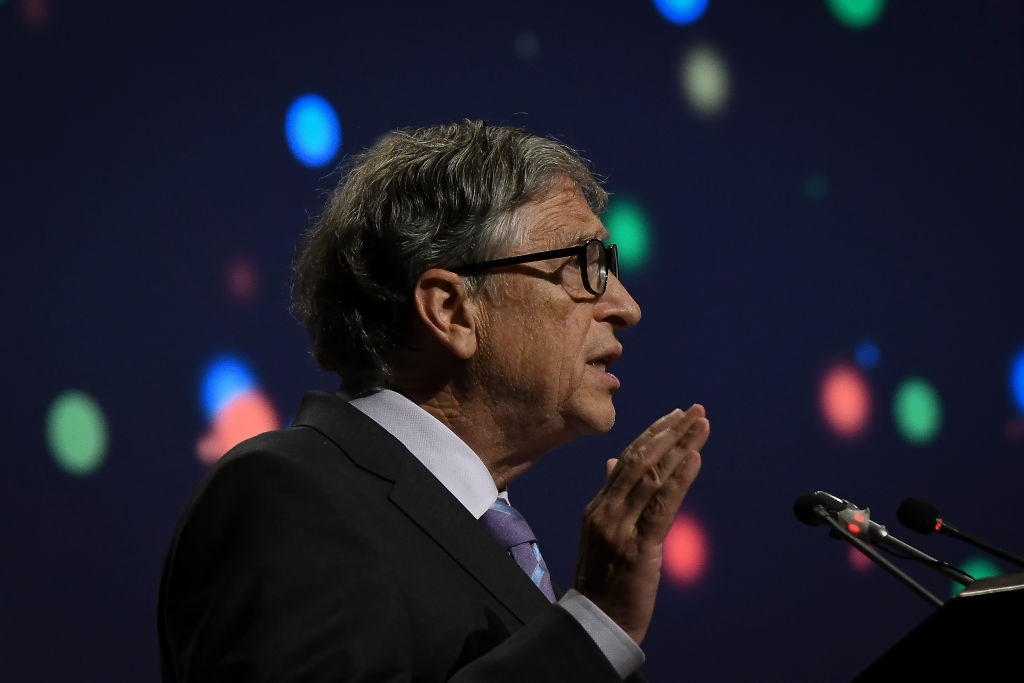 Bill Gates during 8th International Conference on Agriculture Statistics in New Delhi