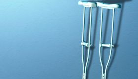 Crutches, illustration