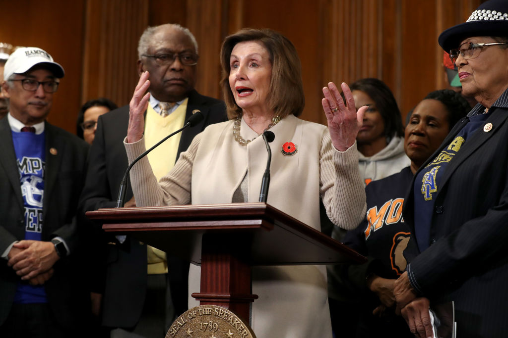 Speaker Pelosi Holds Bill Enrollment Photo Opportunity For FUTURE Act