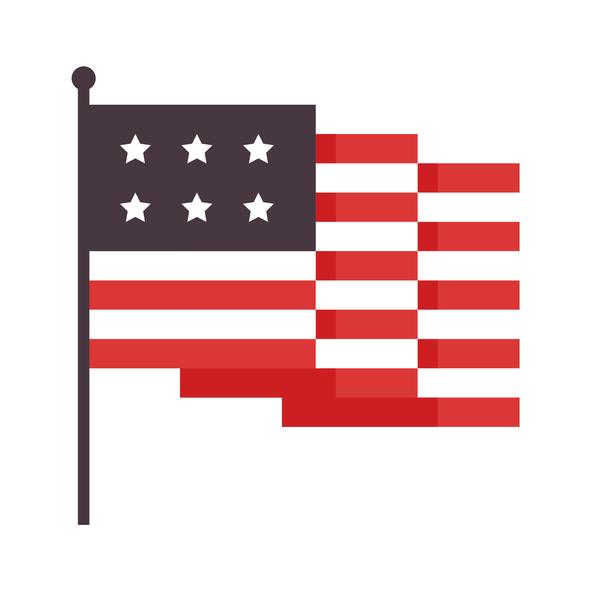 The United States of America flag design