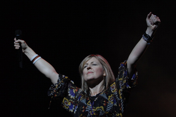 Australian singer Zschech Darlene performs at the arena in Geneva, Switzerland on September 29th, 2007