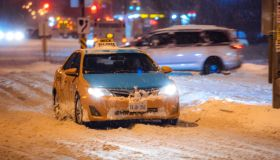 Snow started to fall in the Greater Toronto Area around 10:...