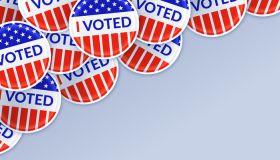 I Voted Sticker Election Background