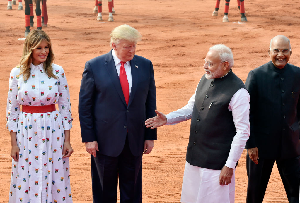 US President Donald Trump Accorded Ceremonial Welcome at Rashtrapati Bhavan