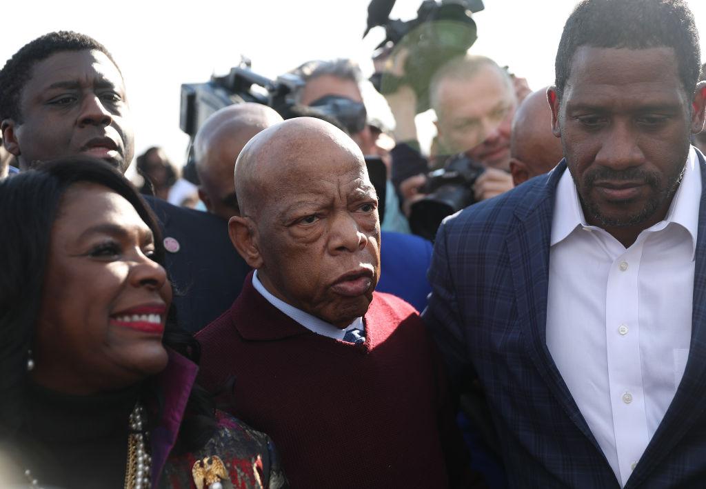 Presidential Democratic Candidates March Across Edmund Pettus Bridge Marking 55th Anniversary Of Selma's Bloody Sunday