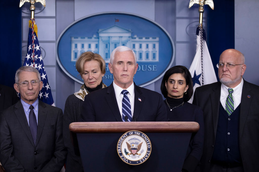 Members Of Coronavirus Task Force Hold Press Briefing At The White House