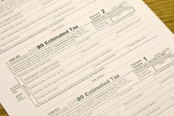 Tax Estimate for employee (form 1040) of the Internal Revenue Service (IRS)