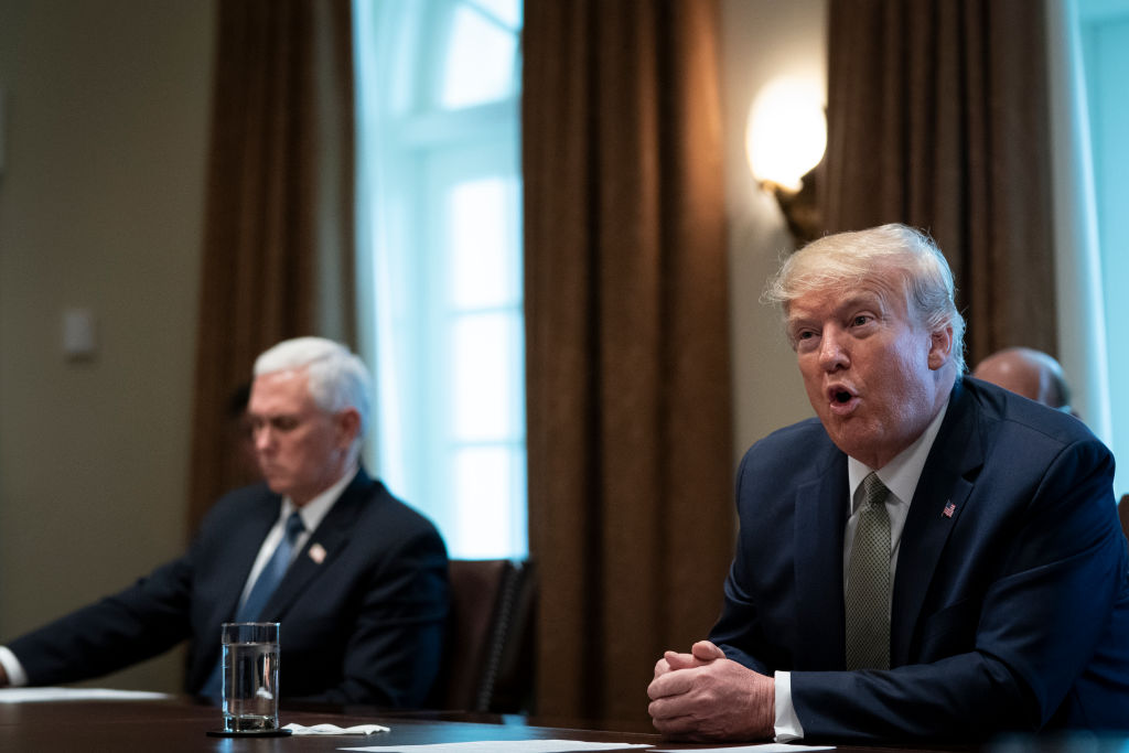 President Trump And Vice President Pence Meet With Tourism Executives To Discuss Response To Coronavirus Disruption