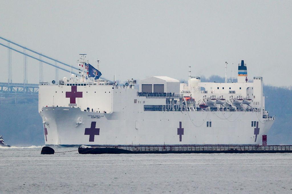 NEWS: MAR 30 Coronavirus in New York USNS Comfort