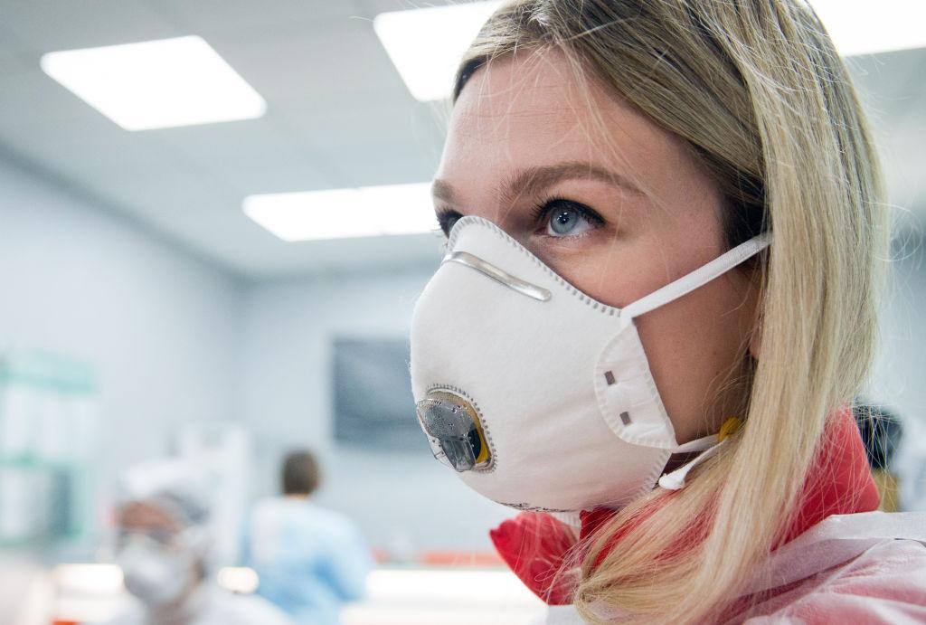 Paid coronavirus testing in Gemotest lab in Simferopol, Crimea