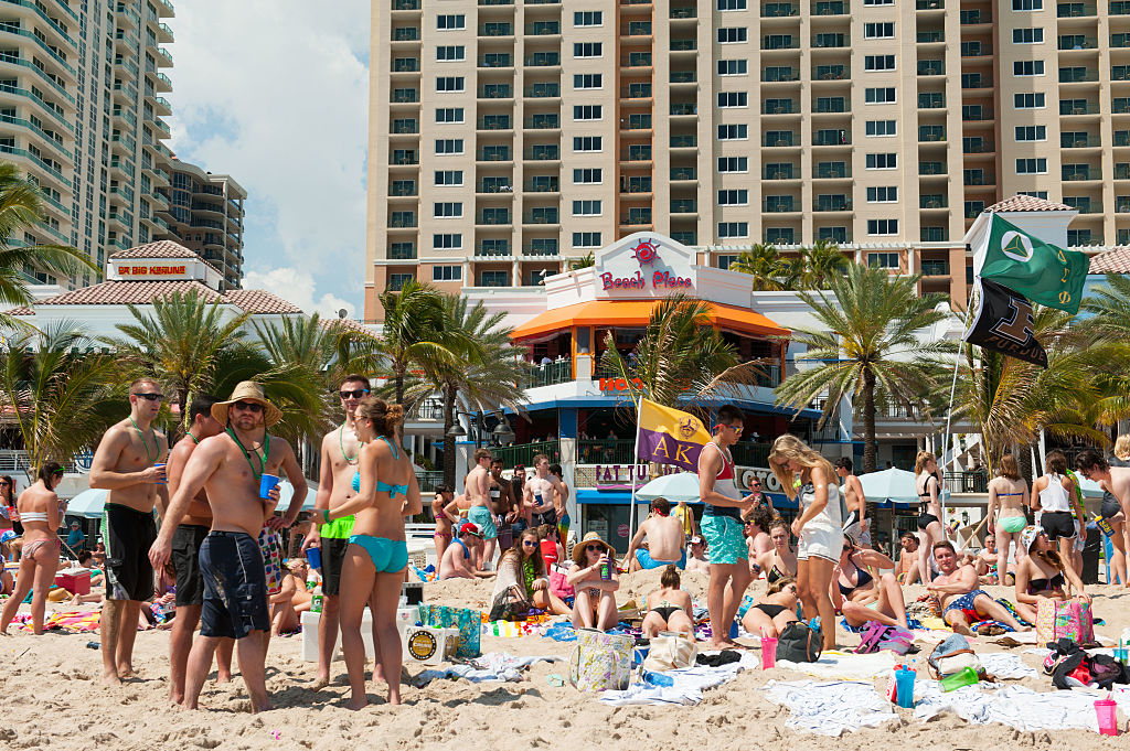 USA - Spring Breakers Celebrate St. Patricks Day On Fort Lauderdale Beach