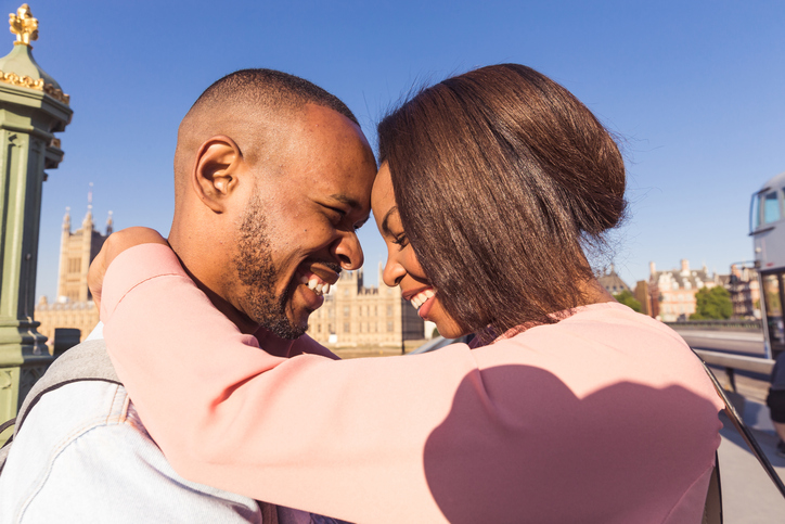 Couple Embracing themselves with Love