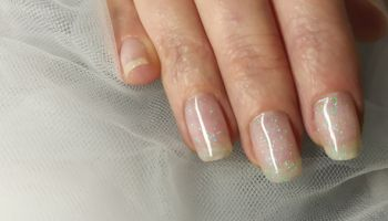 Close-Up Of Woman Fingers With Nail Art Manicure